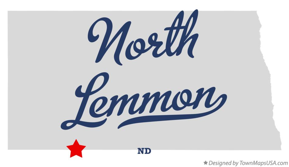 Map of North Lemmon North Dakota ND