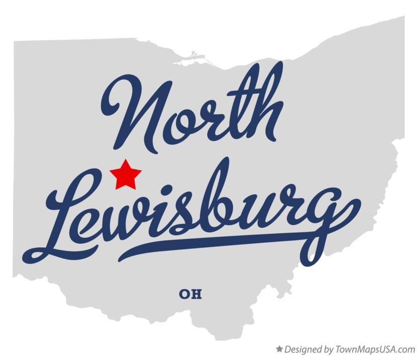 Lewisburg Ohio Map.Map Of North Lewisburg Oh Ohio
