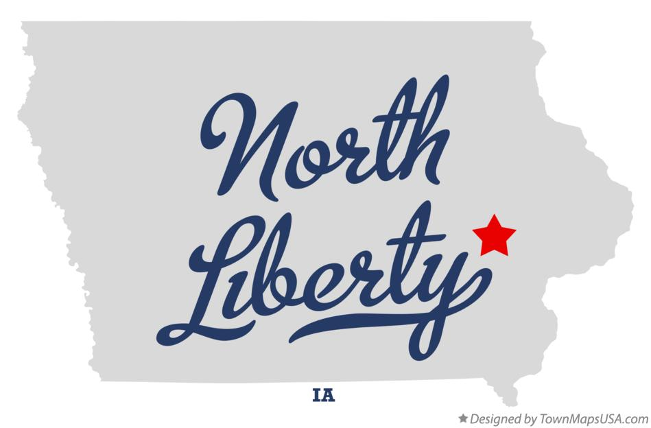 Map of North Liberty Iowa IA