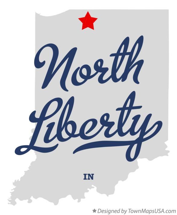 Map of North Liberty Indiana IN