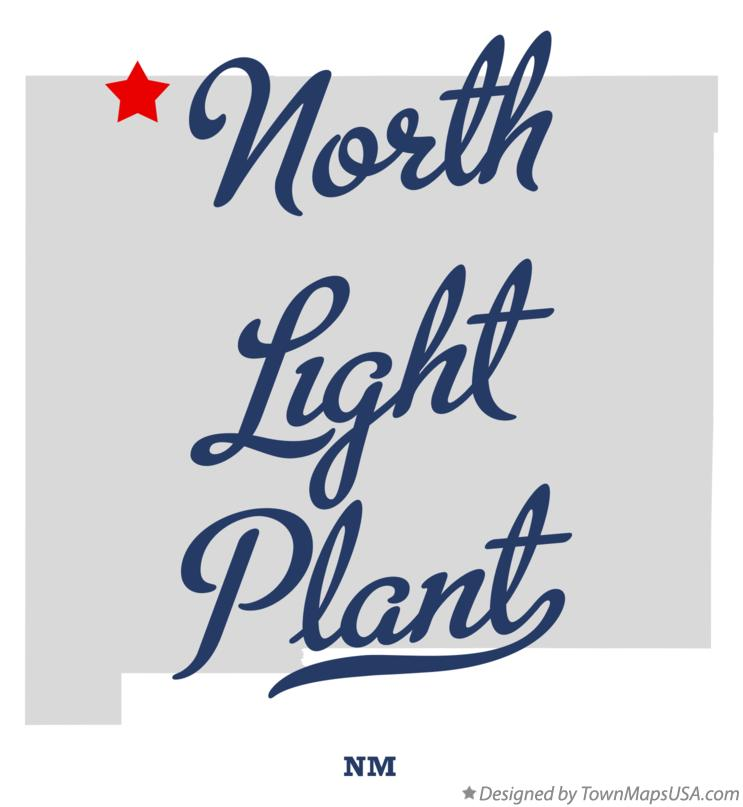 Map of North Light Plant New Mexico NM