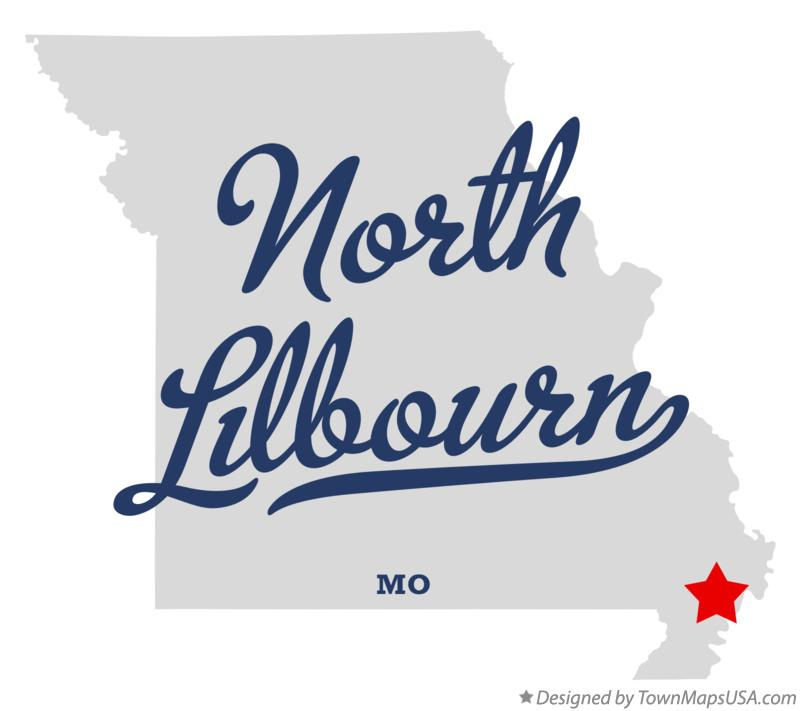 Map of North Lilbourn Missouri MO