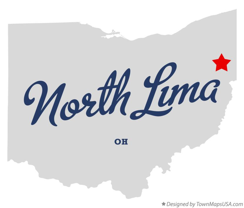 Map of North Lima Ohio OH