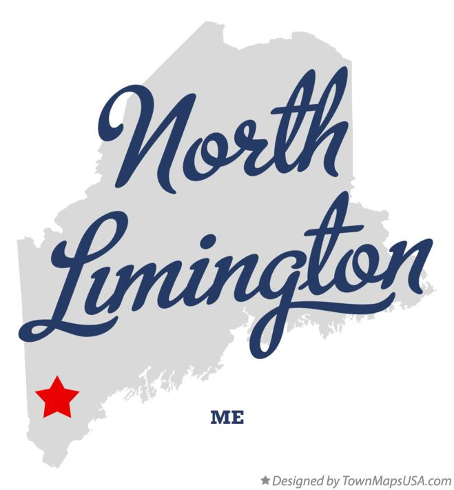 Map of North Limington Maine ME
