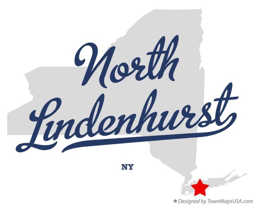 Map of North Lindenhurst New York NY