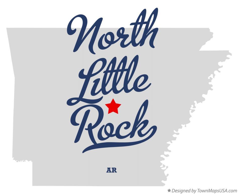 Map of North Little Rock, AR, Arkansas