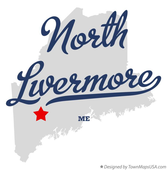 Map of North Livermore Maine ME