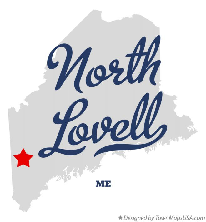 Map of North Lovell Maine ME