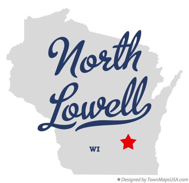 Map of North Lowell Wisconsin WI
