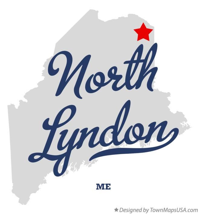 Map of North Lyndon Maine ME