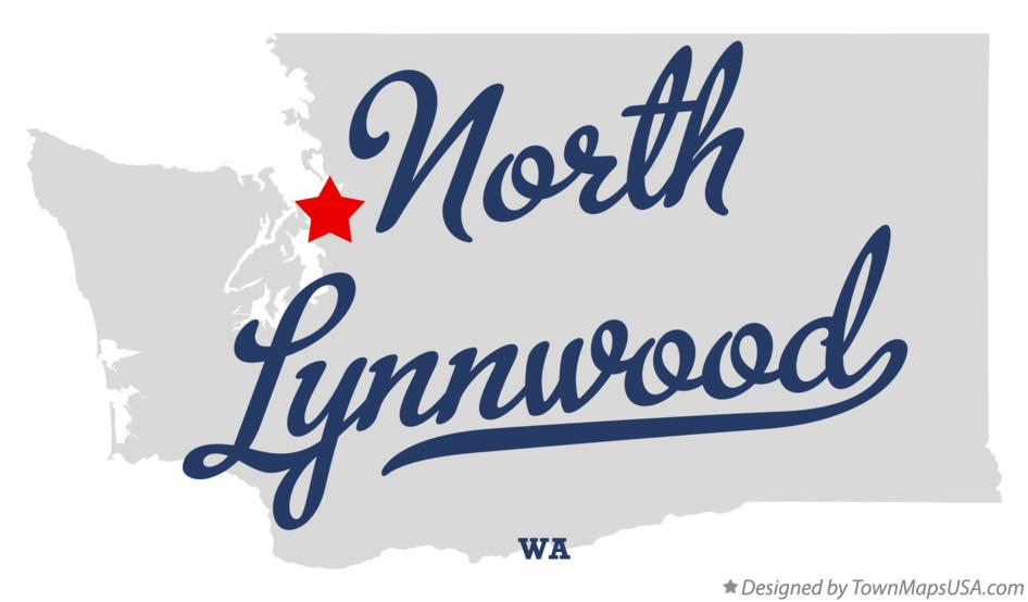 Map of North Lynnwood Washington WA