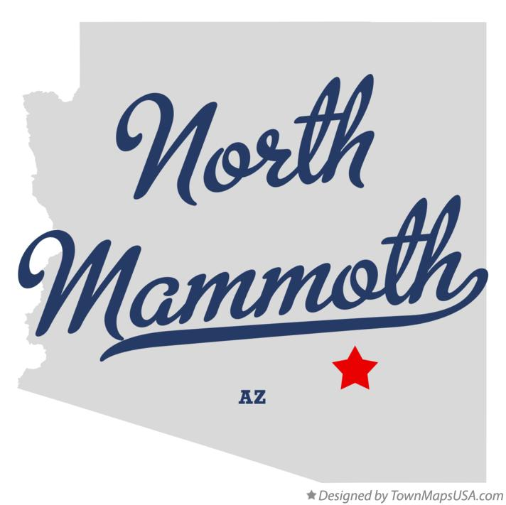 Map of North Mammoth Arizona AZ