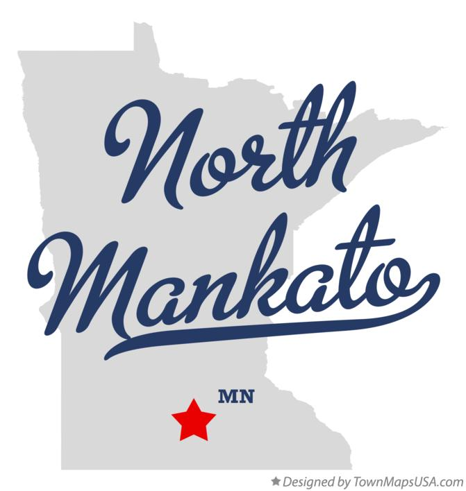 Map of North Mankato Minnesota MN