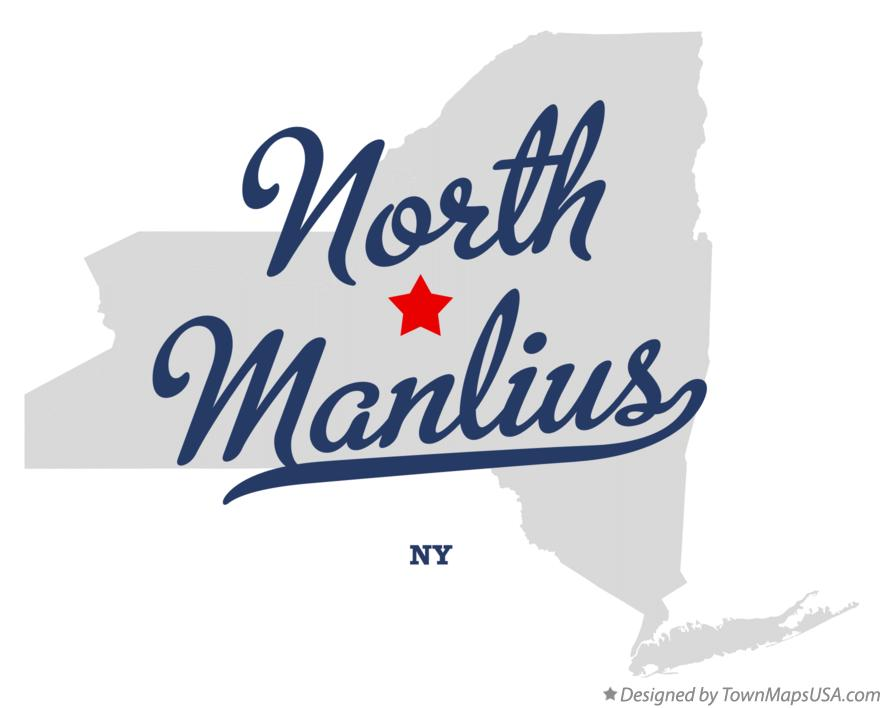 Map of North Manlius New York NY