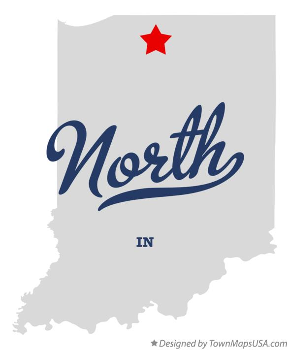 Map of North Indiana IN