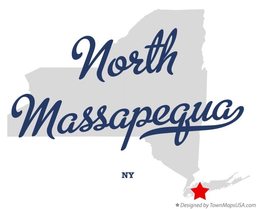 Map of North Massapequa New York NY