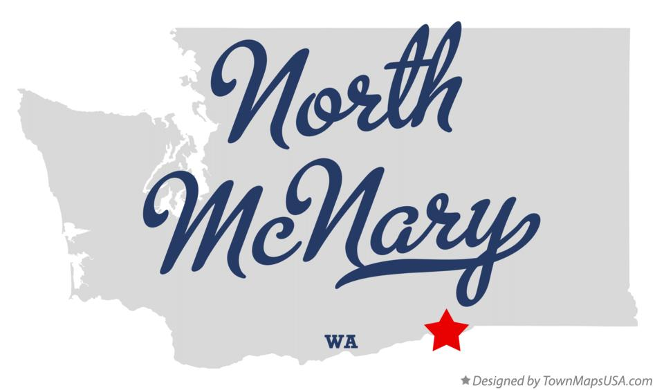 Map of North McNary Washington WA