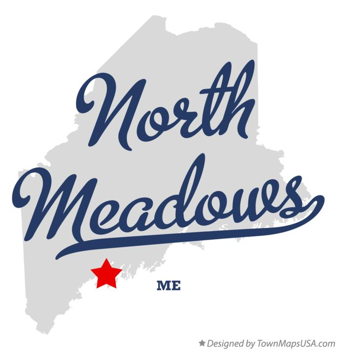 Map of North Meadows Maine ME