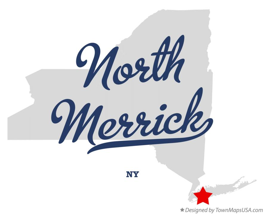 Map of North Merrick New York NY