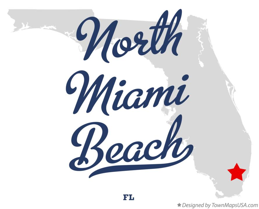 Map of North Miami Beach Florida FL