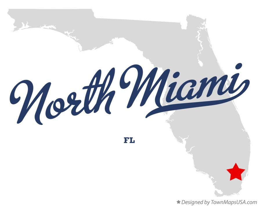 Map of North Miami Florida FL