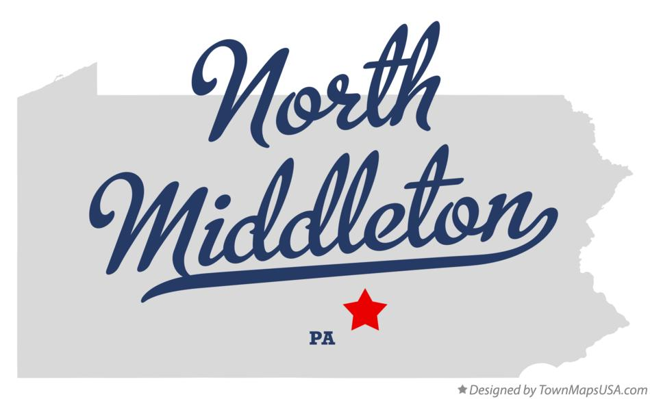 Map of North Middleton Pennsylvania PA