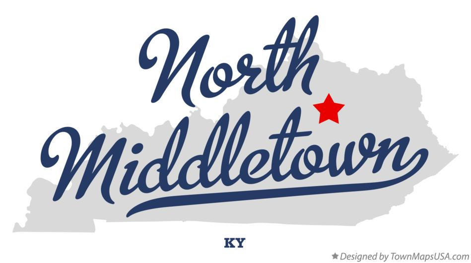 Map of North Middletown Kentucky KY