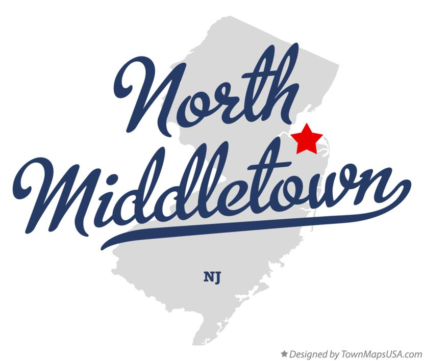 Map of North Middletown New Jersey NJ