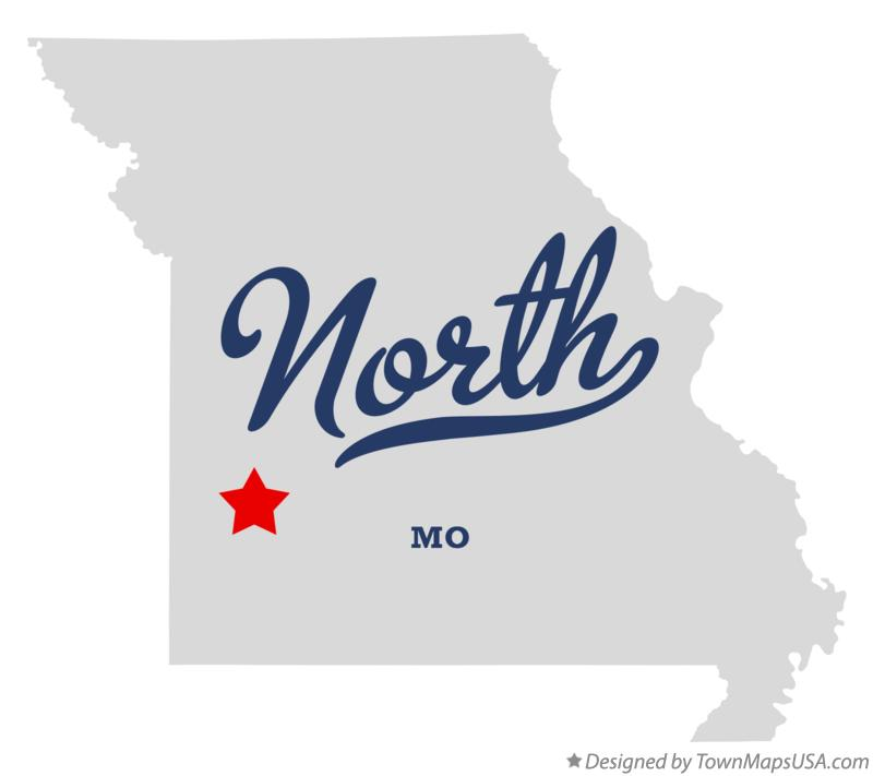 Map of North Missouri MO