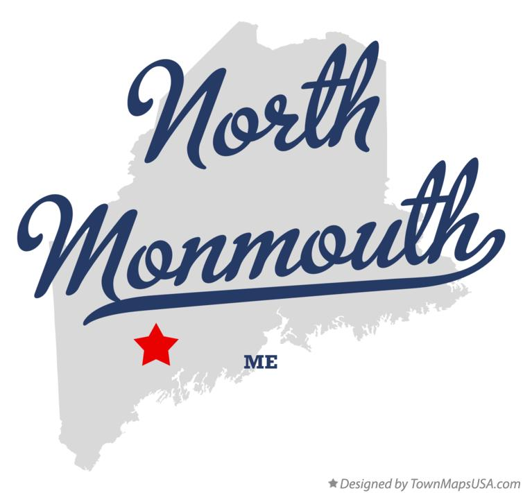 Map of North Monmouth Maine ME