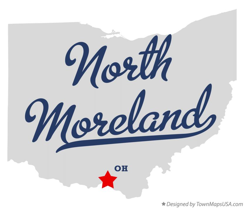 Map of North Moreland Ohio OH