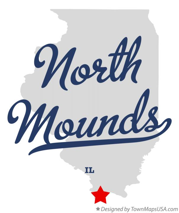 Map of North Mounds Illinois IL
