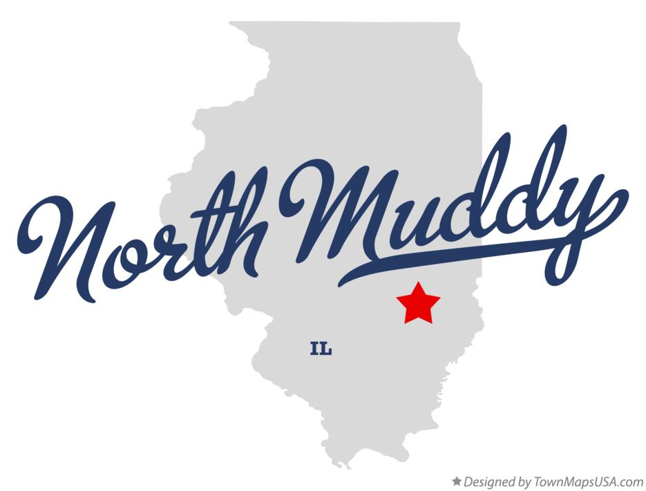 Map of North Muddy Illinois IL