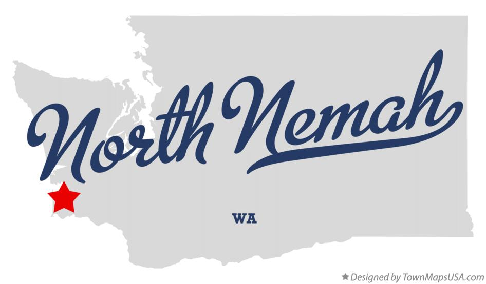 Map of North Nemah Washington WA