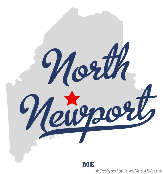 Map of North Newport Maine ME