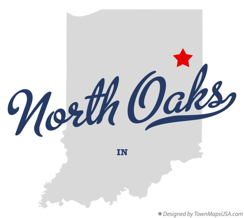 Map of North Oaks Indiana IN