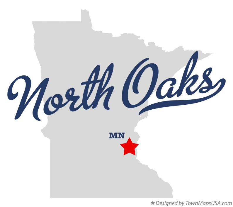 Map of North Oaks Minnesota MN