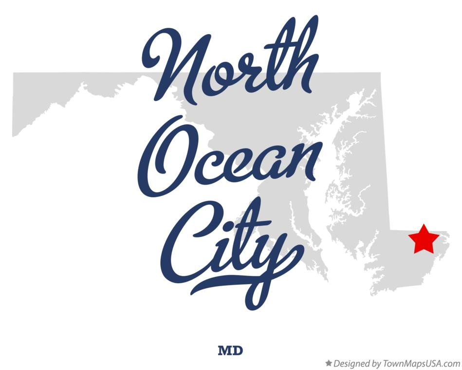 Map of North Ocean City Maryland MD
