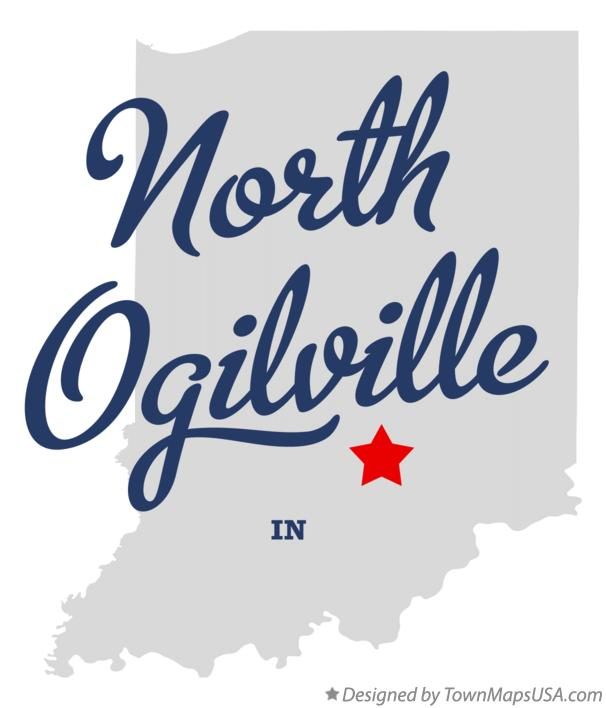 Map of North Ogilville Indiana IN