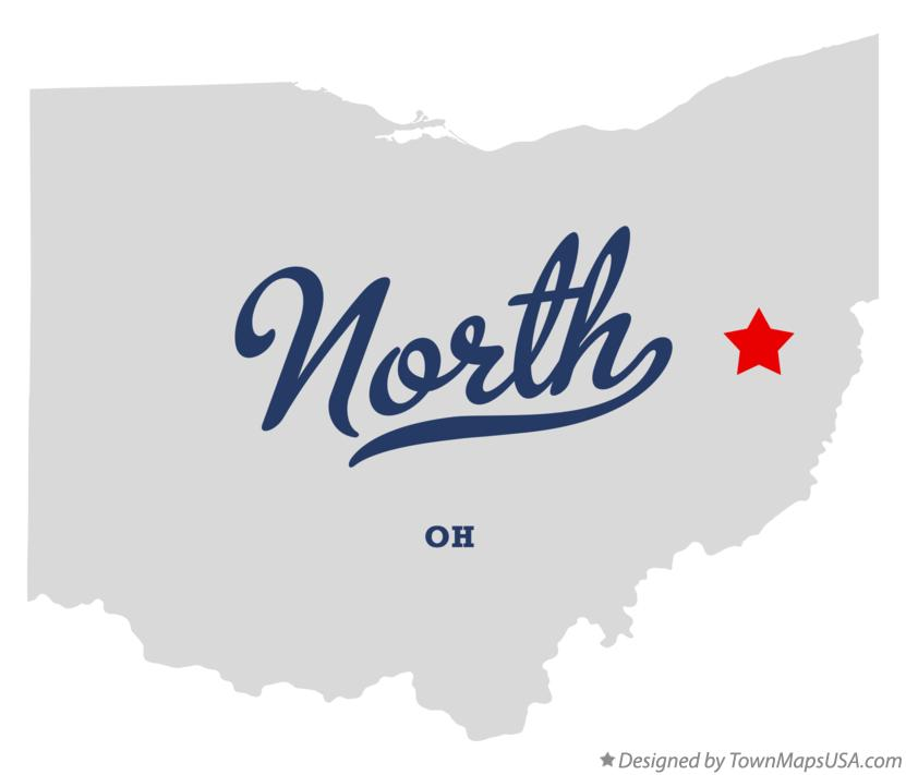 Map of North Ohio OH