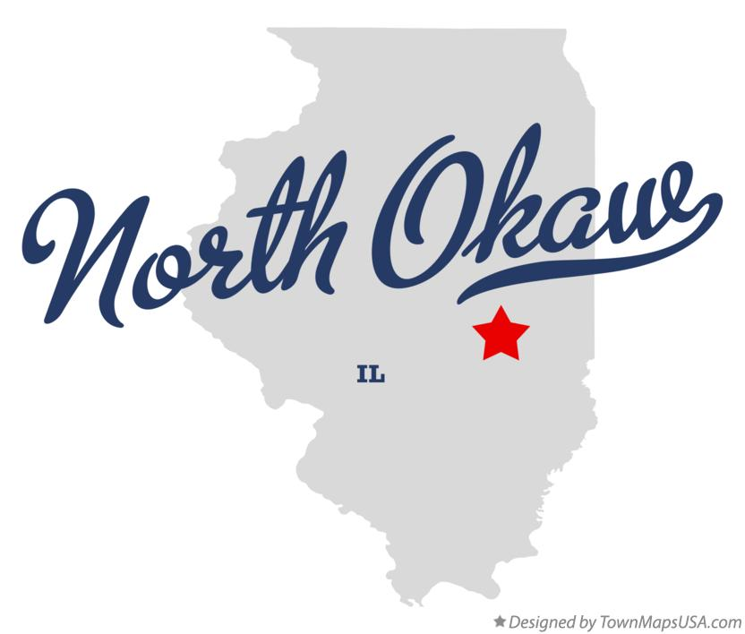Map of North Okaw Illinois IL