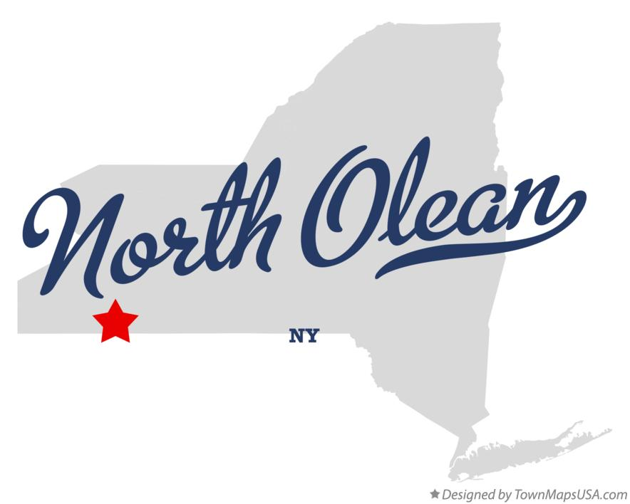 Map of North Olean New York NY