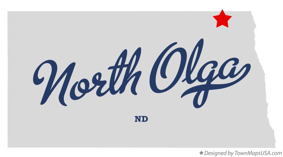Map of North Olga North Dakota ND
