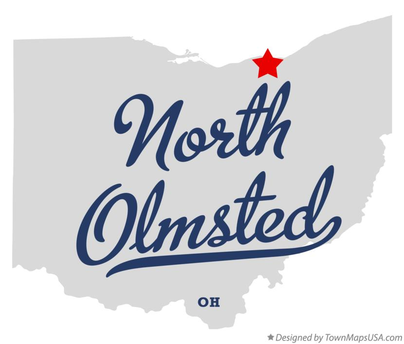 Map of North Olmsted Ohio OH