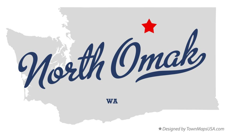 Map of North Omak Washington WA