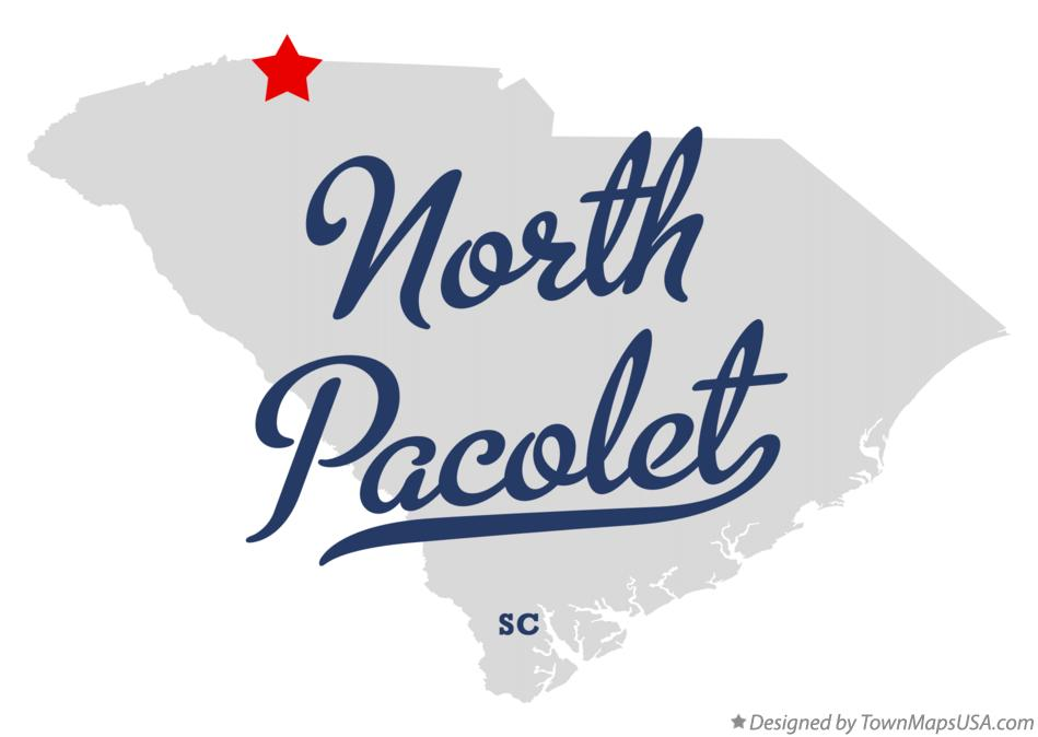 Map of North Pacolet South Carolina SC