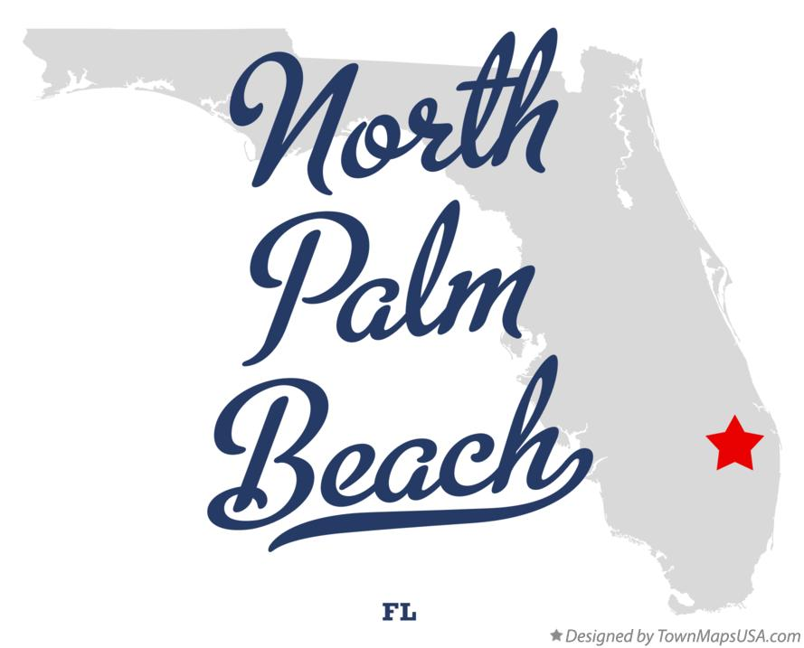 Map of North Palm Beach Florida FL