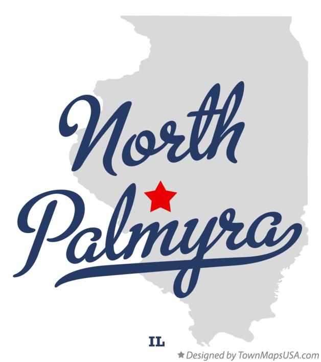 Map of North Palmyra Illinois IL
