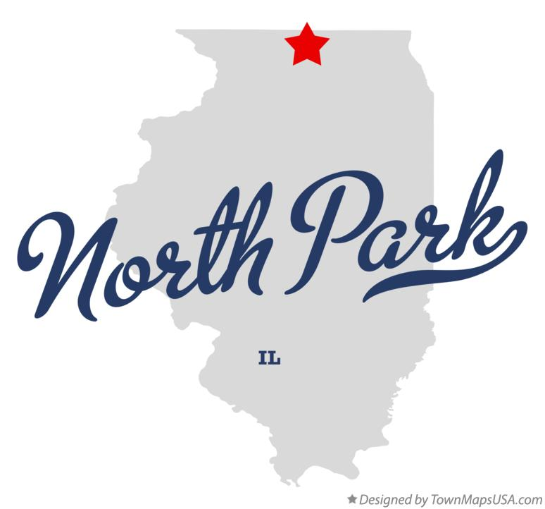 Map of North Park Illinois IL