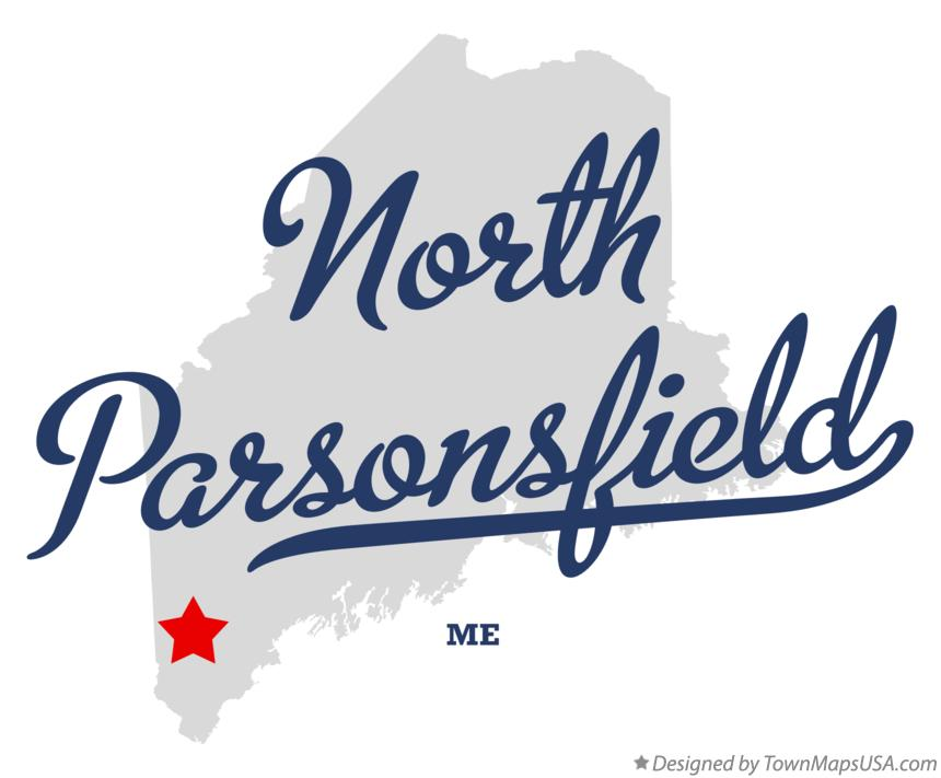 Map of North Parsonsfield Maine ME